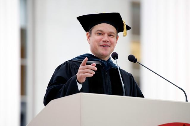 Matt Damon's Commencement Speech to the Class of 2016